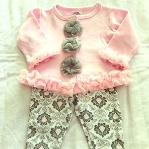 Baby Essentials Pink Ruffled Outfit